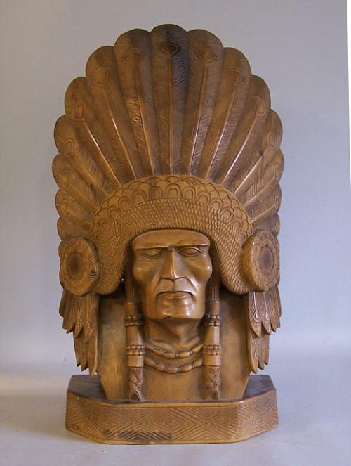 Price my item value of native american indian chief