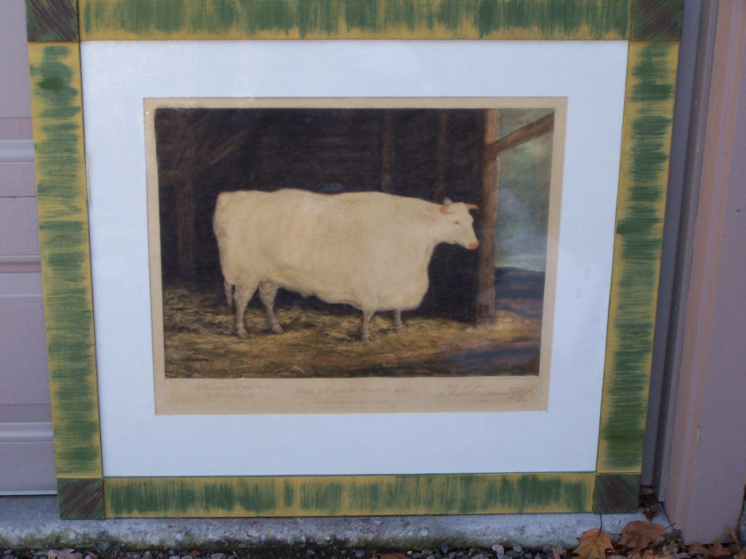 The Durham White Ox engraving by W M Ward c1813