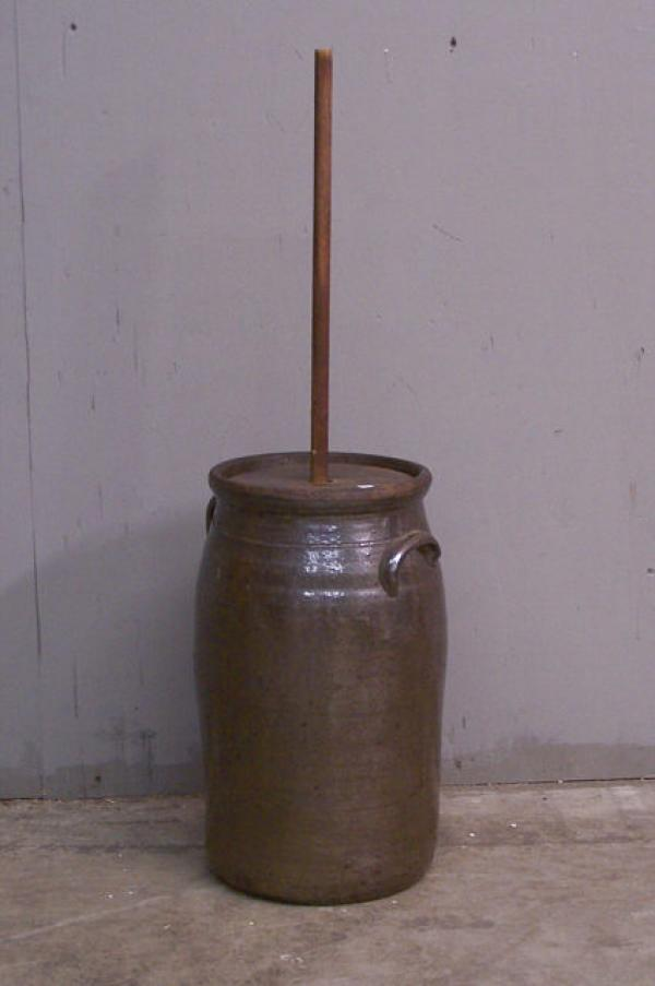 Price My Item Value Of Early Stoneware Butter Churn C1800