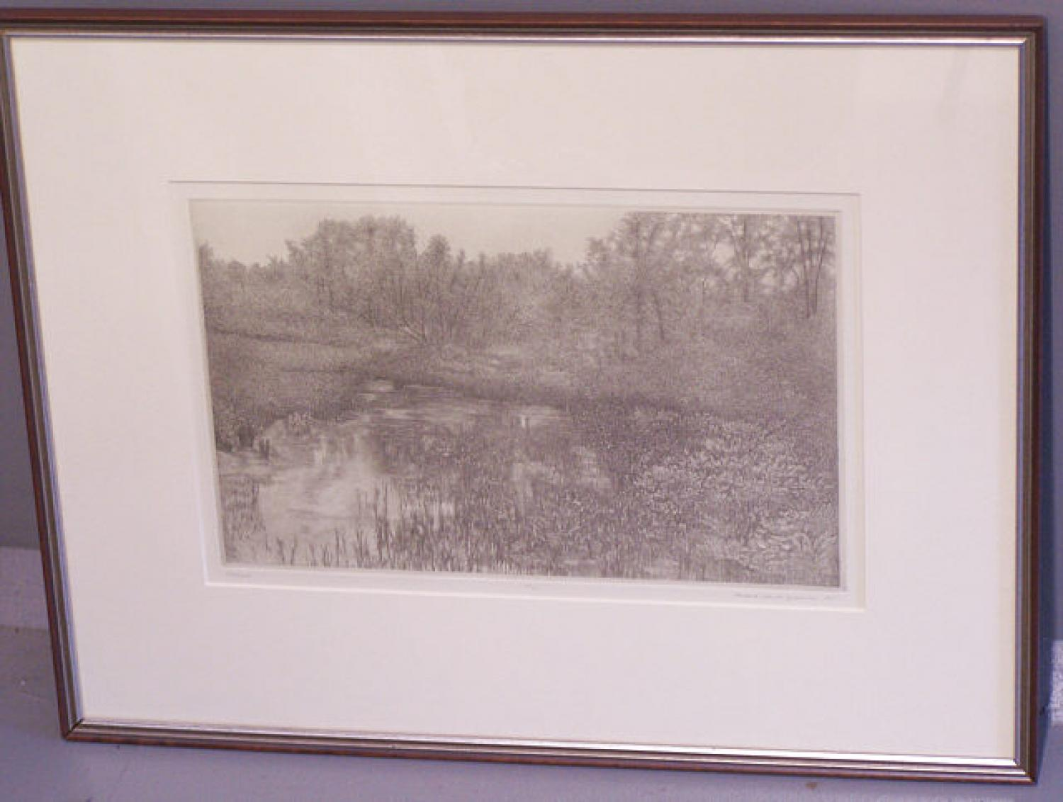 Richard Claude Ziemann etching Wetland 1997