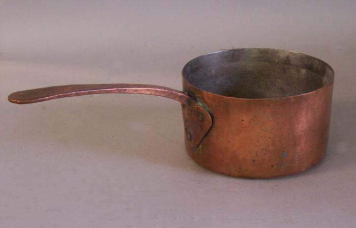18th century dovetailed bottom copper pot