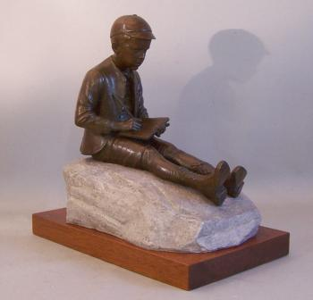 Image of Bronze figure of Eugene O'Neill as a child by Norman Legassie