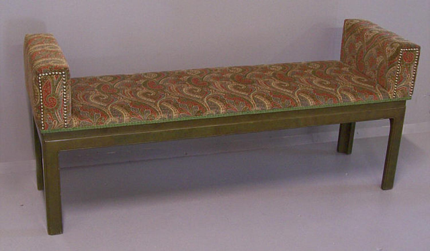 Beacon Hill window bench in paisley upholstery