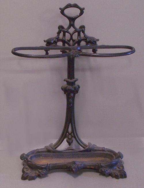 Victorian cast iron umbrella stand c1880