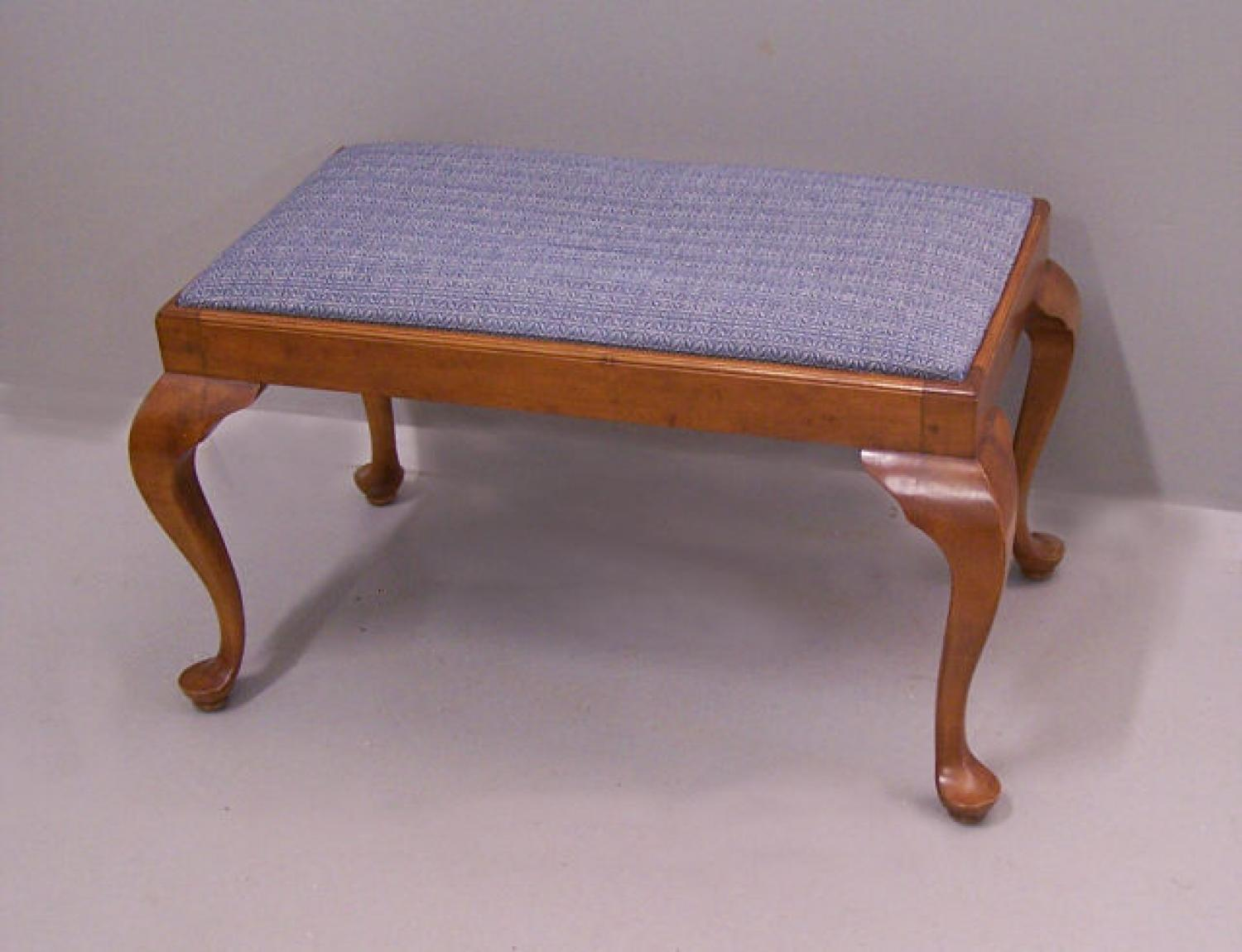 Wallace Nutting window bench with upholstered seat c1930