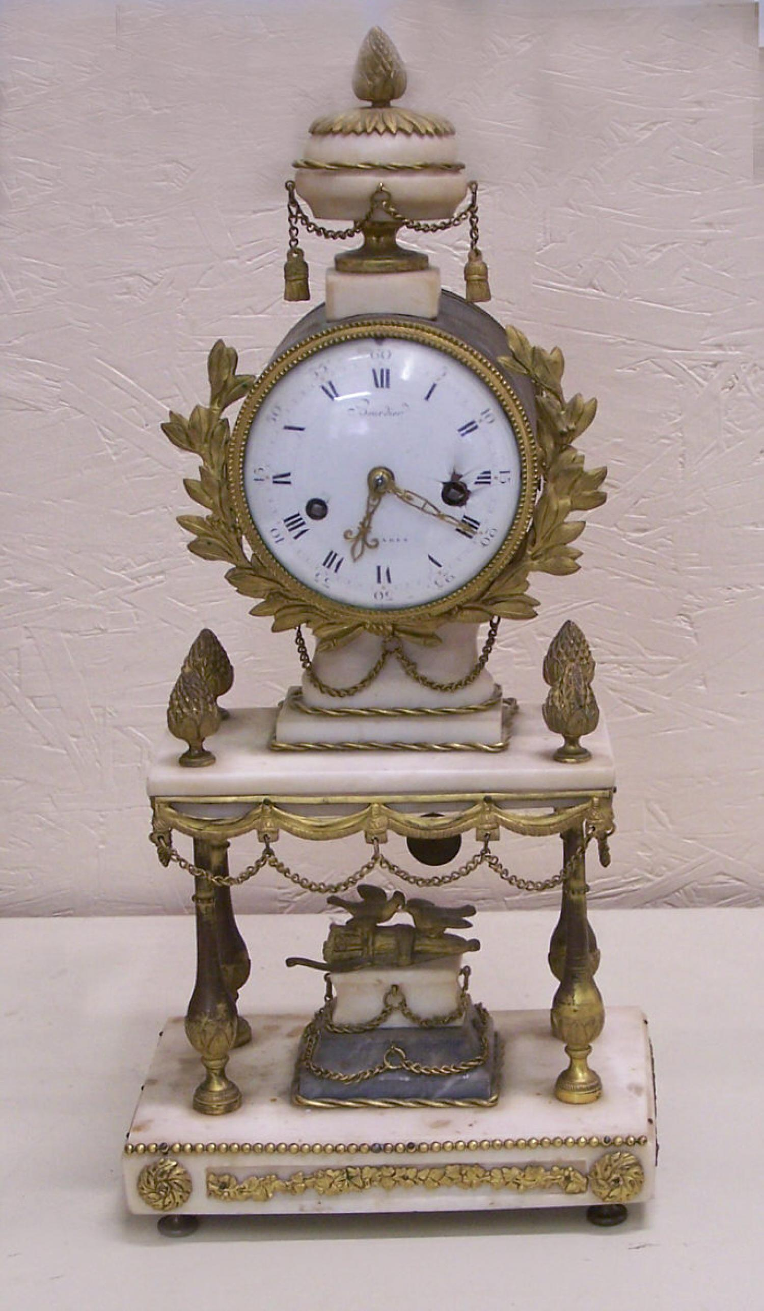 Early 20th century French mantle clock by Bourdier Paris c1820