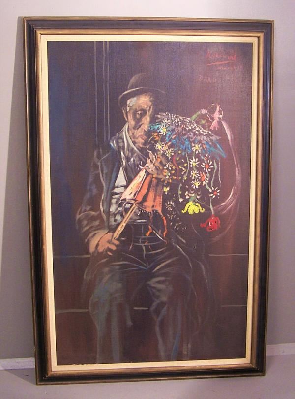 price my item value of noel rockmore oil on canvas