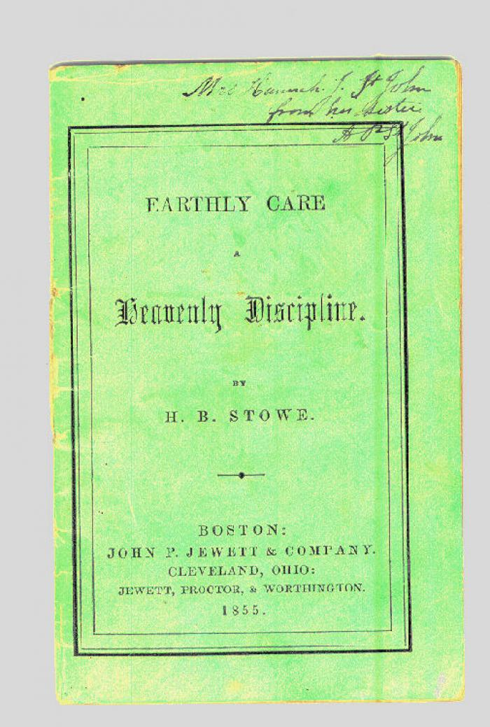 Harriet Beecher Stowe Heavenly Discipline c1855