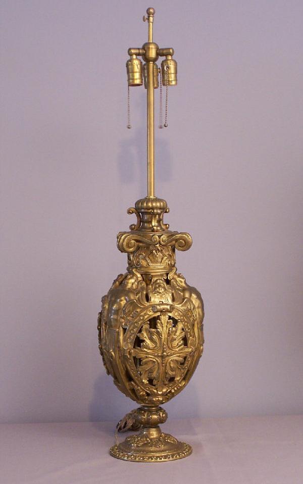 price my item value of american renaissance revival cherub oil lamp 1880. Black Bedroom Furniture Sets. Home Design Ideas
