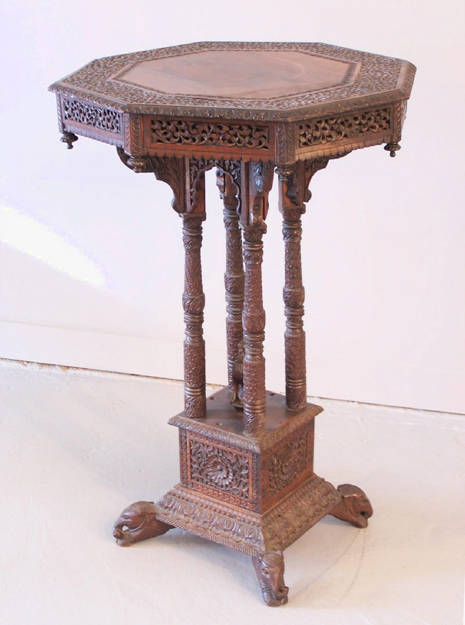 Anglo Raj Side lamp or plant Table c1840