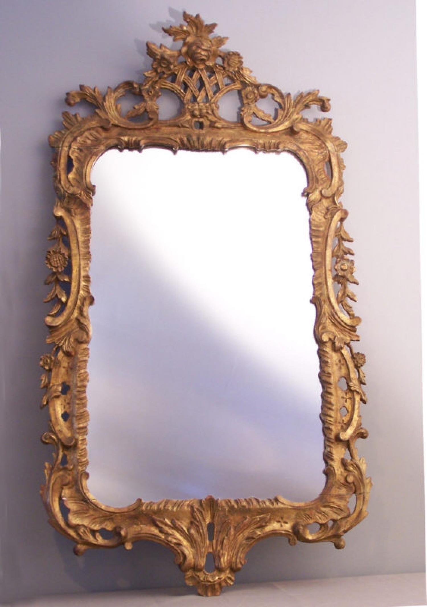 Louis XV style Giltwood Mirror c1800