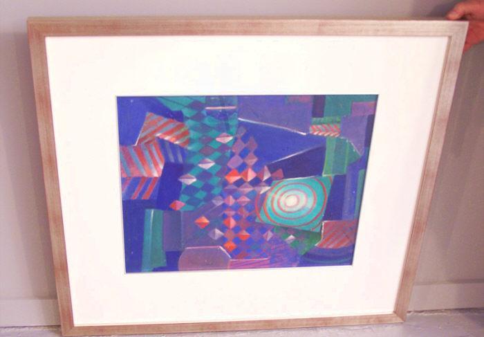 Jean Hogan geometric abstract oil painting