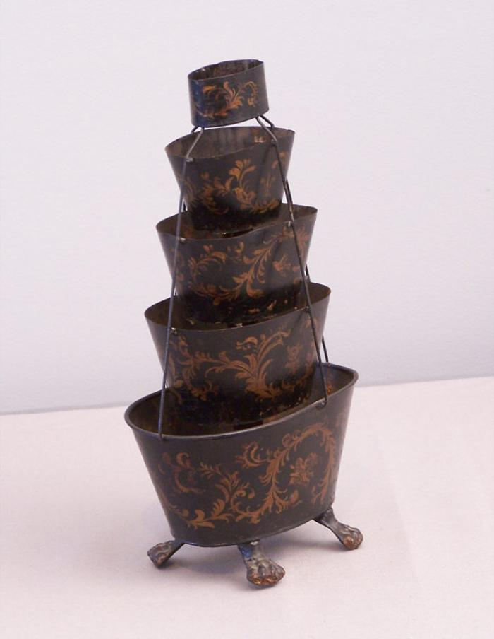 French tiered tole planter c1880
