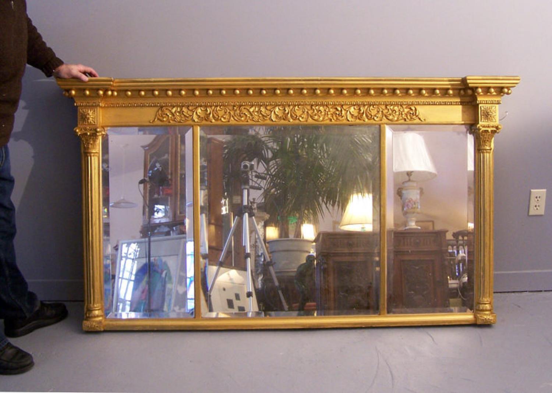 American Federal Period over mantel mirror c1840