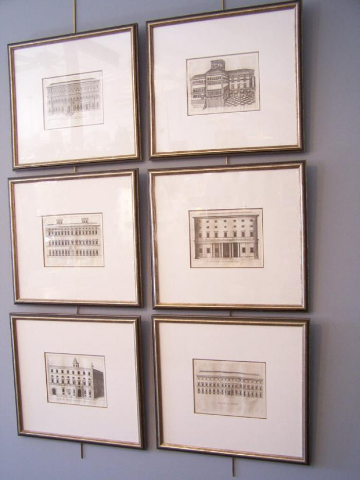18thc architectural engravings of Italian Palazzo facades