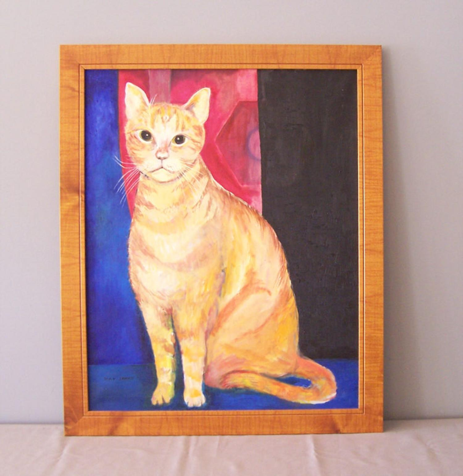 May Janko cat portrait painting of Yo Yo