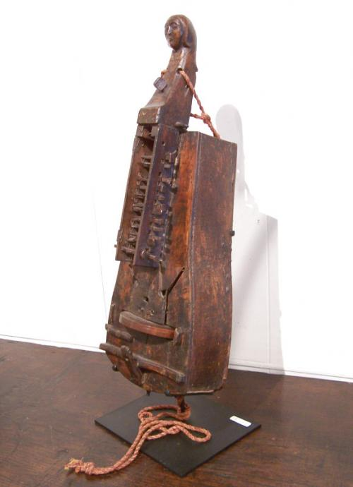 Early French provincial mount stringed Hudry Gurdy  instrument
