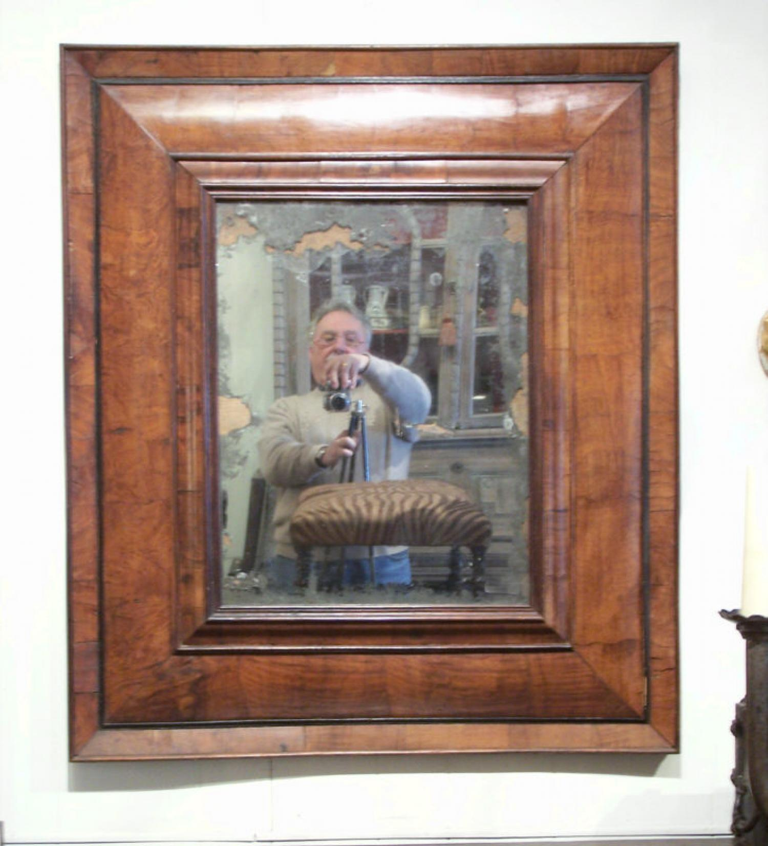 French 17thc  Renaissance burlwood mirror from Toulouse