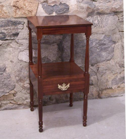 Price my item value of early american sheraton mahogany for Night stand cost