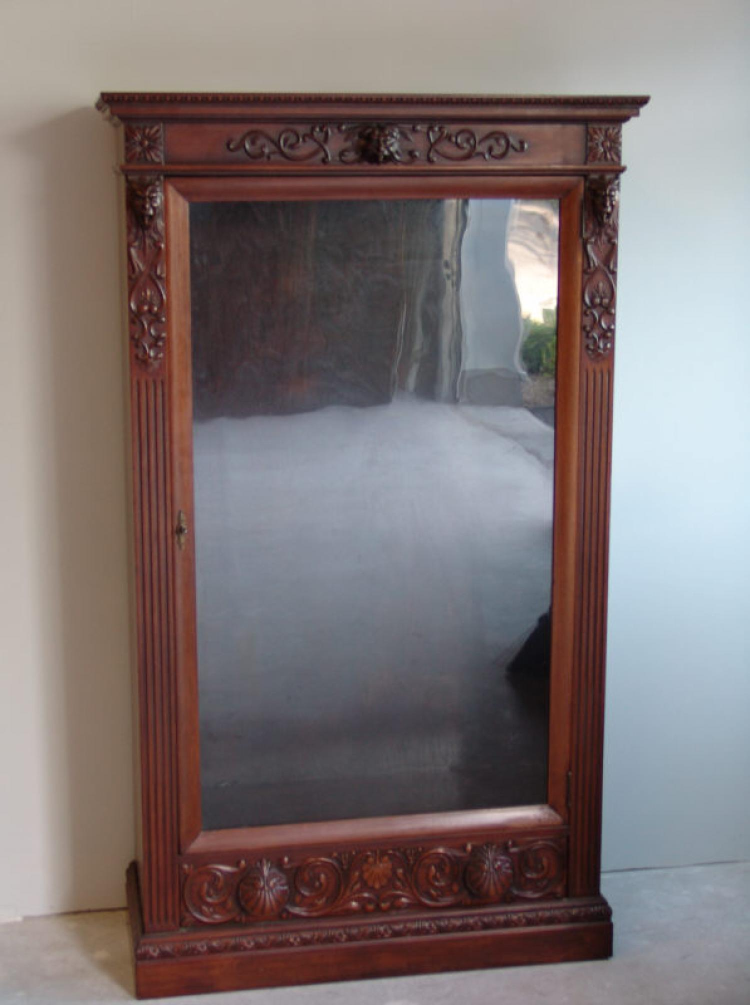 American Victorian hand carved mahogany bookcase c1880