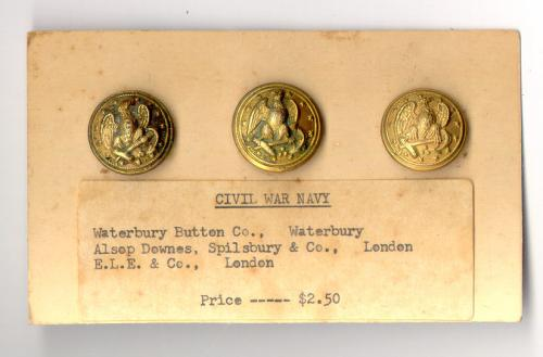 Civil War Navy buttons Waterbury Button Co