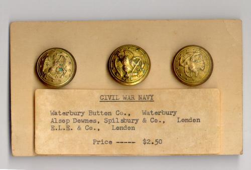 Civil War Navy buttons Waterbury Button Co