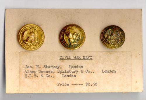 Civil War Navy Buttons Jos Starkey London