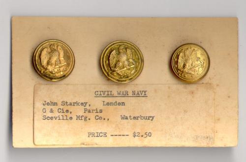 Civil War Navy Button John Starkey G and Cie Paris