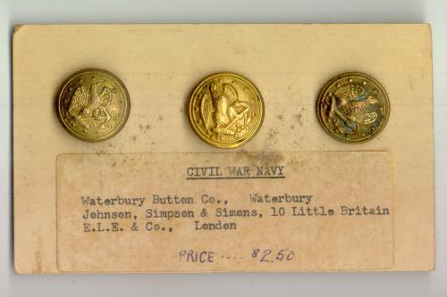Civil War Navy Buttons Waterbury Button Co Johnson Simpson