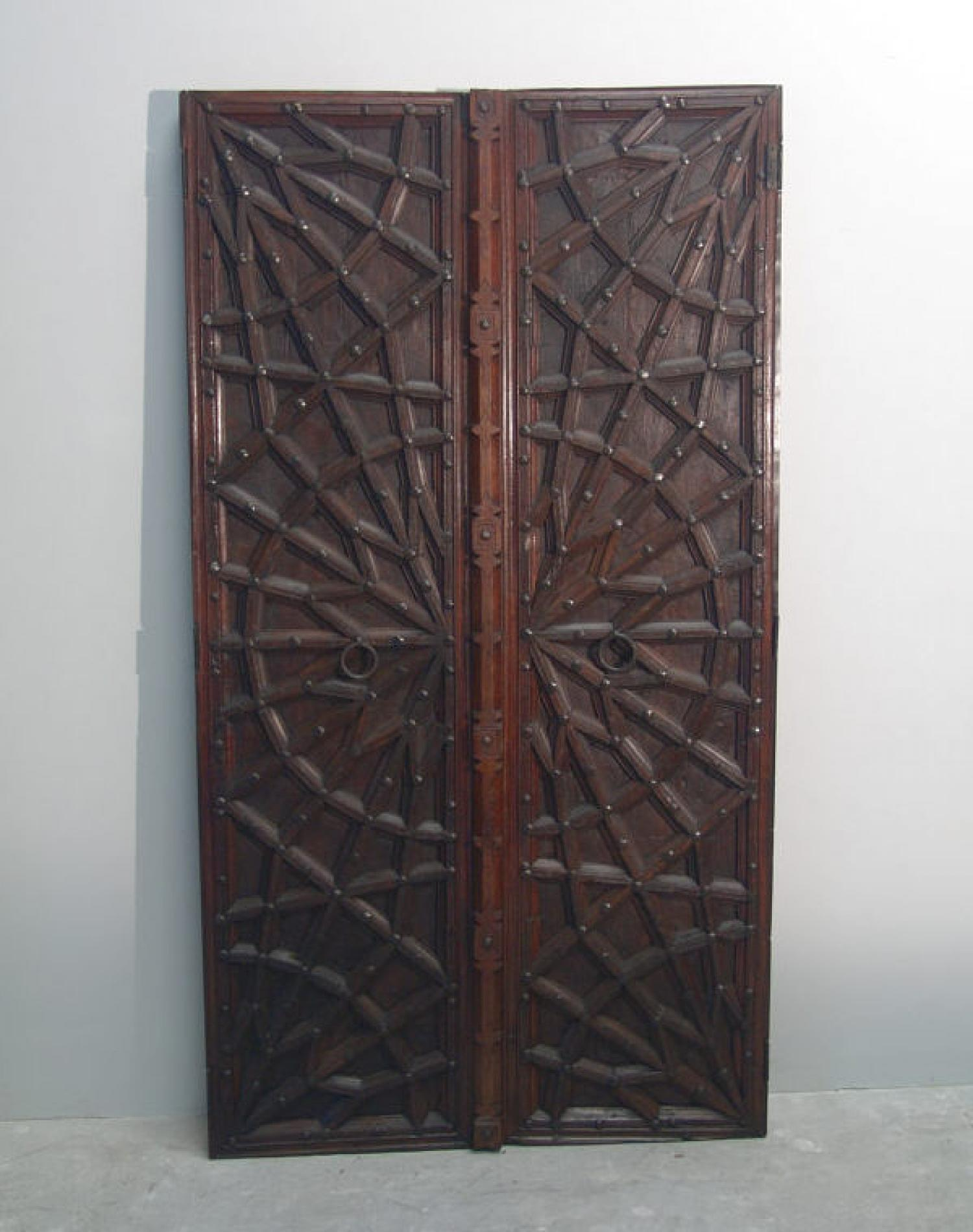 Pair of early 19th century Asian doors