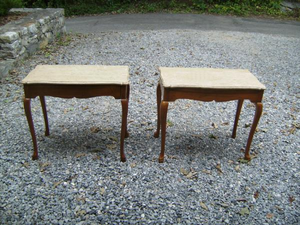 Pair Italian Marble Top End Tables C1920