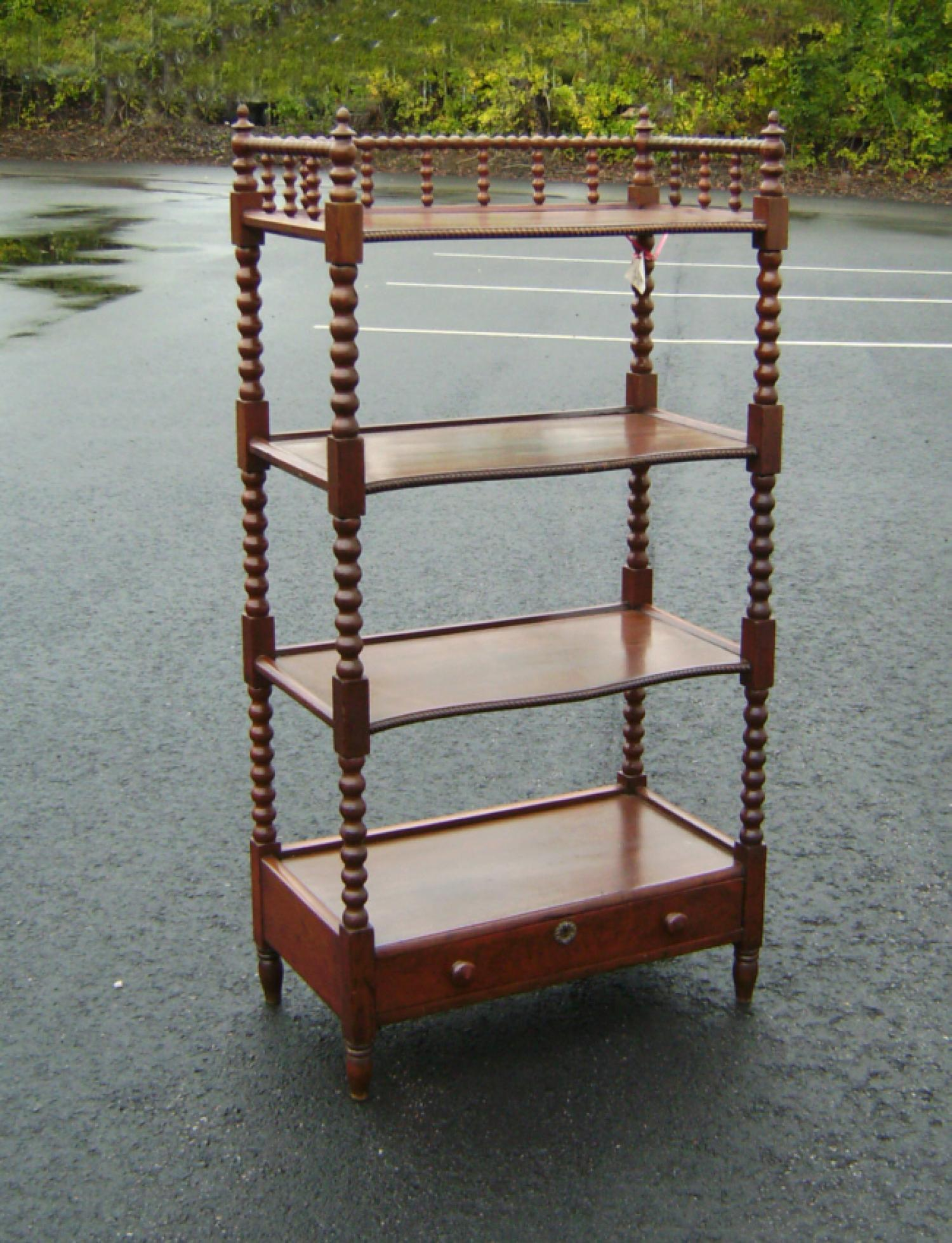 Spool turned etagere server or book shelf c1870
