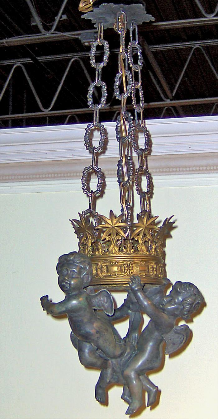 Empire style hallway chandelier ceiling fixture c1900
