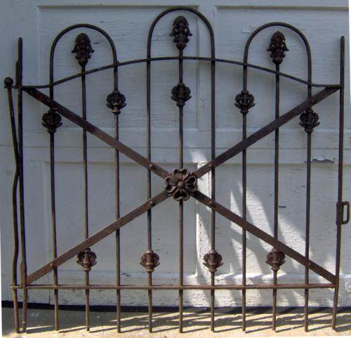 19th C  Victorian iron garden gate in loop design c1860