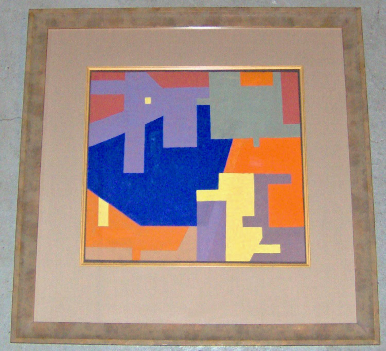 A Rudolf Petrik  geometric constructivist gouache on paper