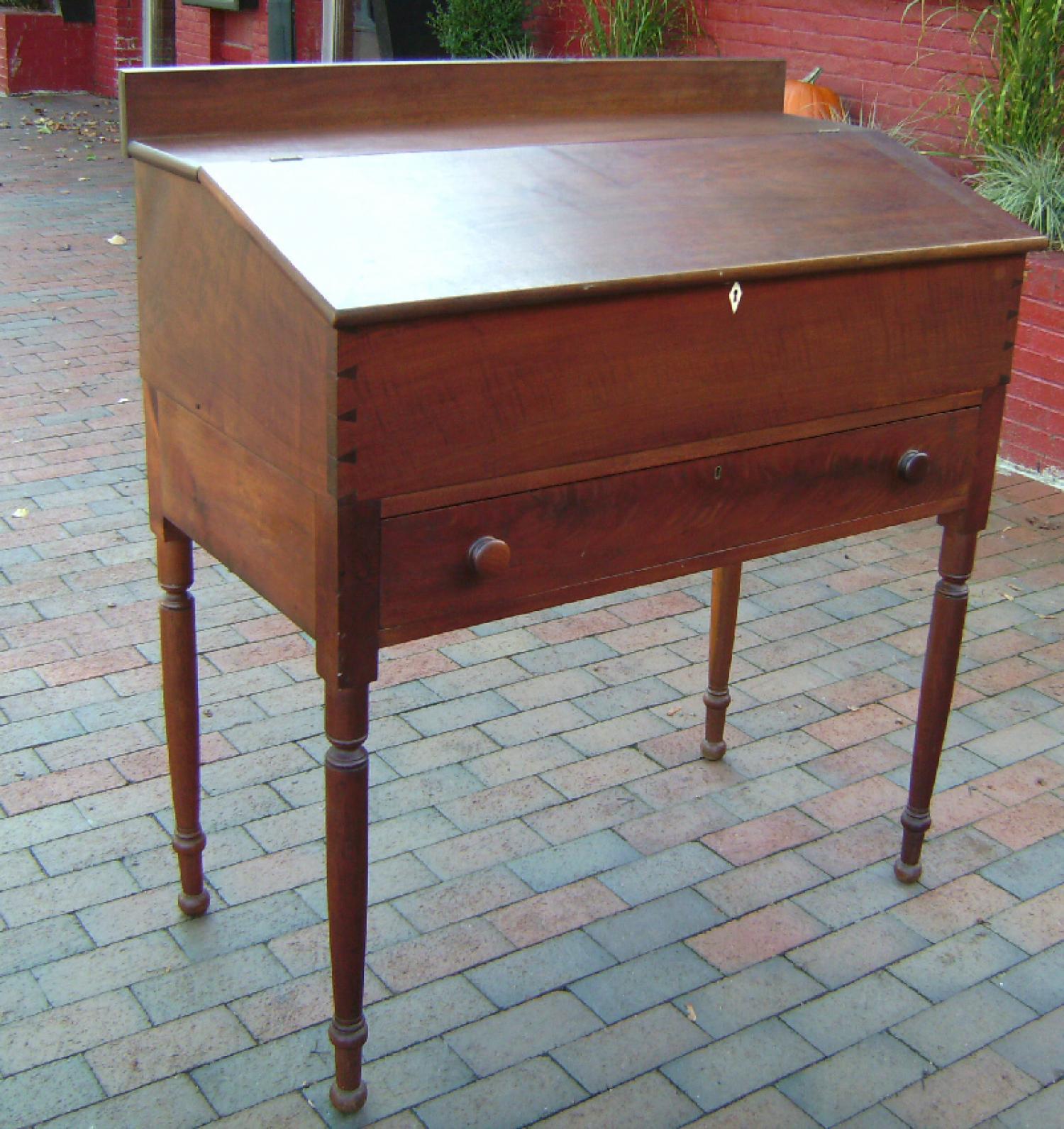 Penn country  walnut slant lid plantation desk c1840