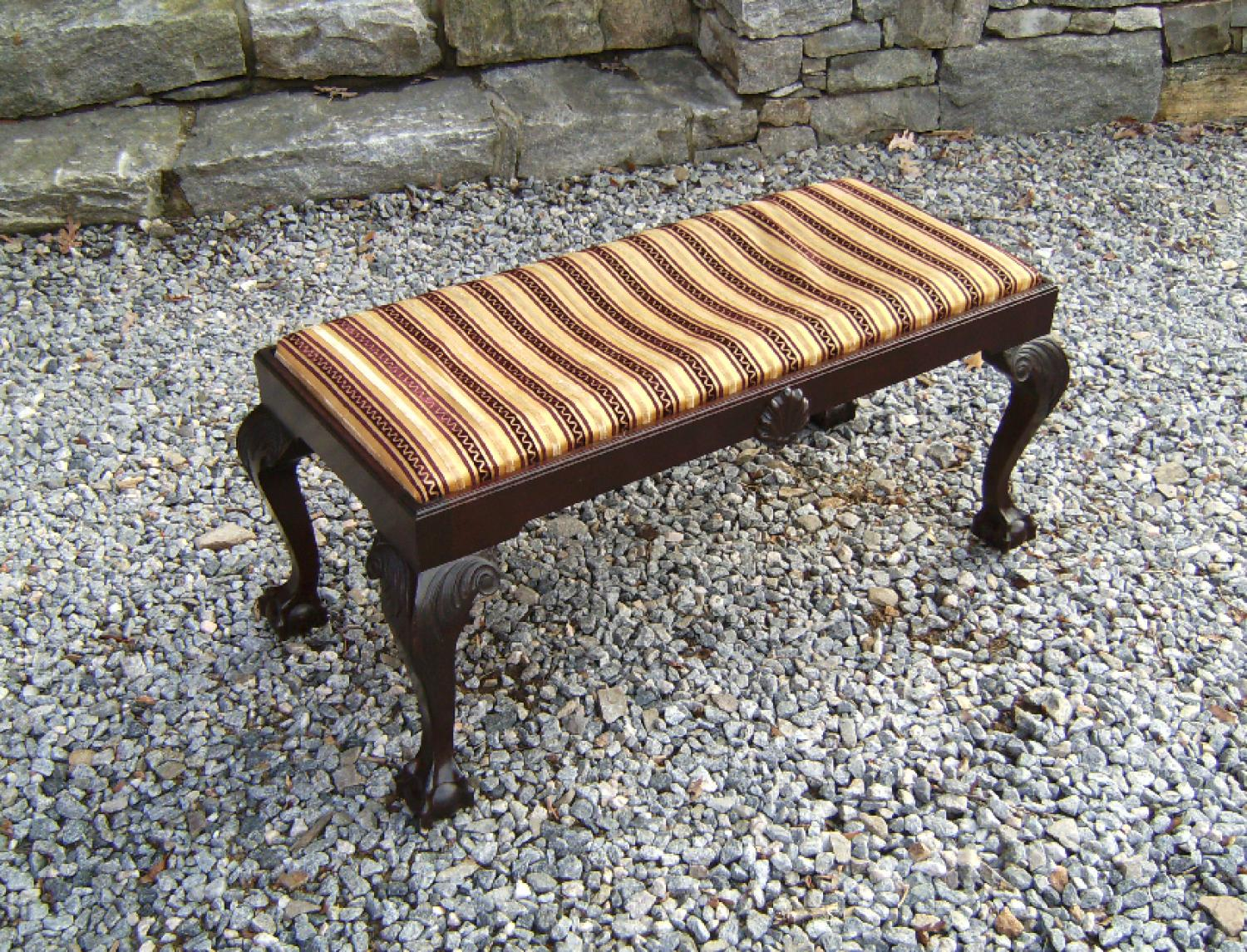 Wallace Nutting hand made mahogany window seat bench c1925