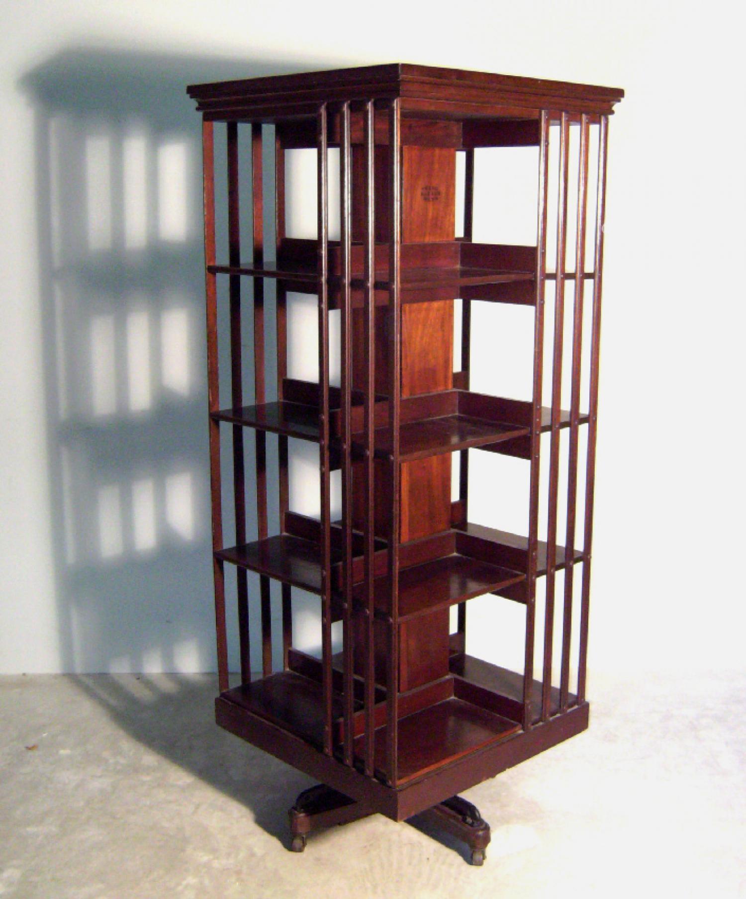 Danner Victorian mahogany rotating bookcase c1890