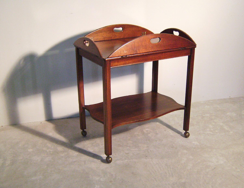 Biggs Richmond VA furniture mahogany butlers tray top tea cart c1950
