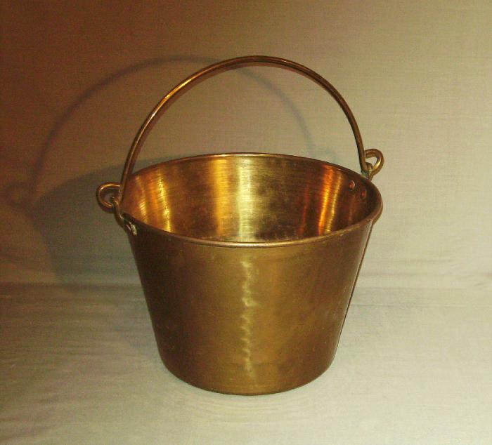 Brass bucket by Randolph Clowes Co Waterbury Conn