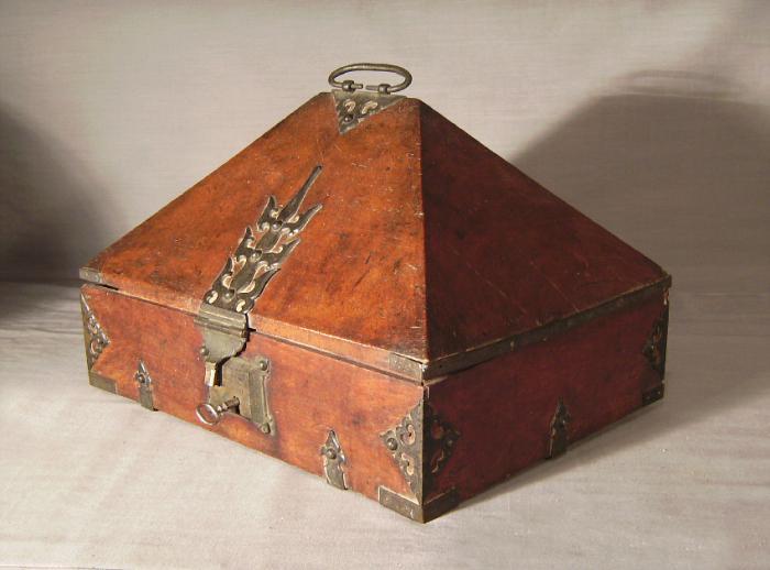 19th c rosewood dowry box from Malabar Coast