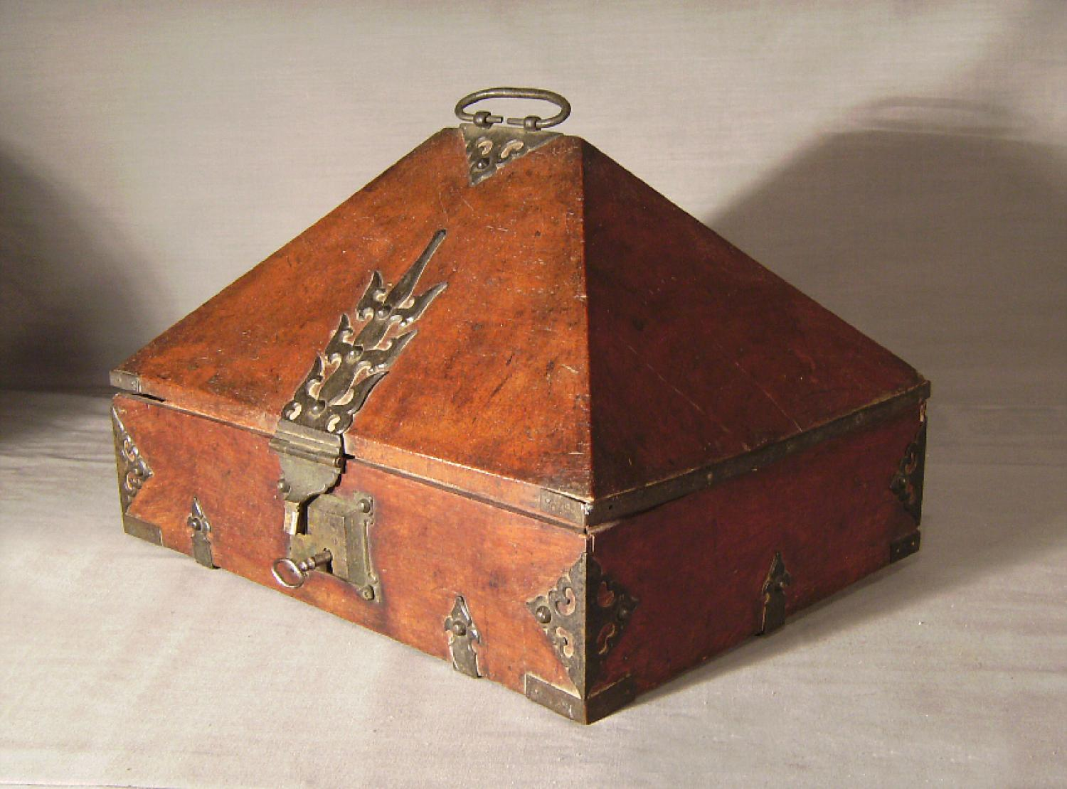19th c rosewood dowry box from Malabar Coast
