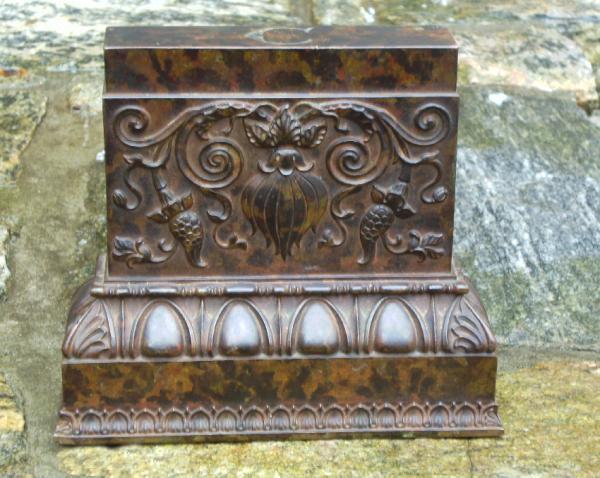 Solid Bronze Embossed Door Stop C1880