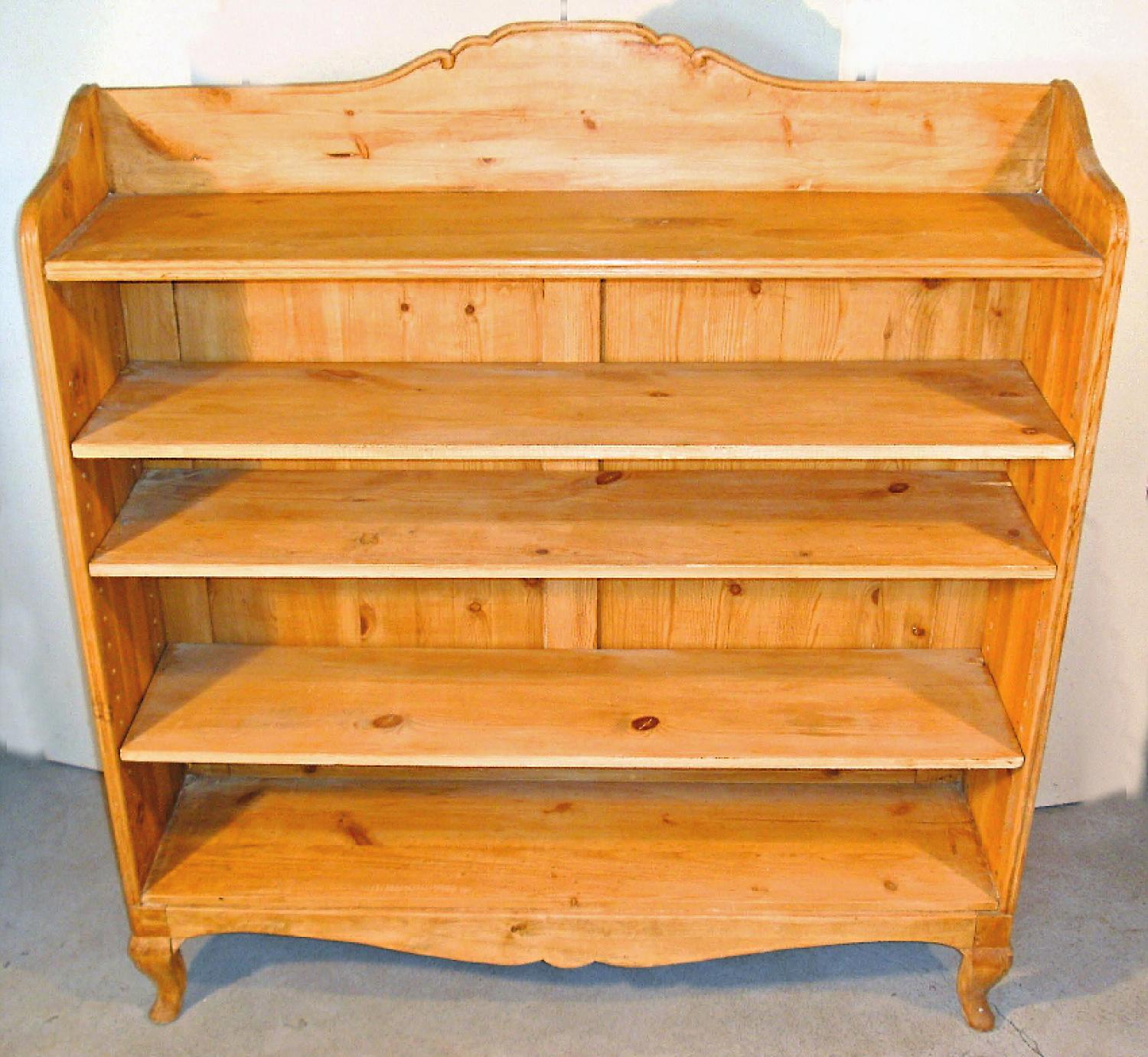 English waxed pine country bookcase in the Louis XV style c1850