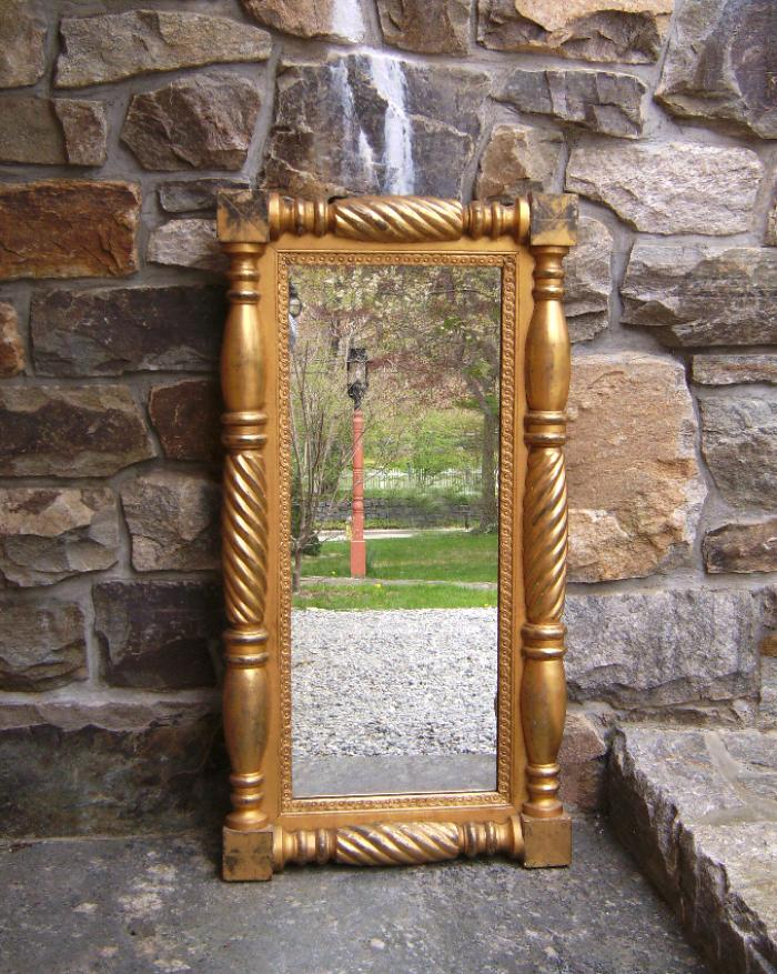 American Federal gold leaf mirror c1820