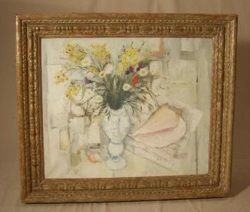 Image of Jean Pierre Zingg floral still life oil painting