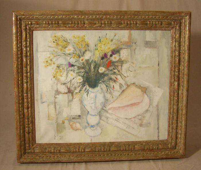 Jean Pierre Zingg floral still life oil painting