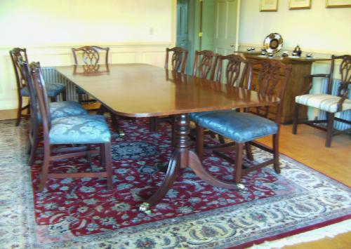 my item value of vintage baker dining table chairs and sideboard