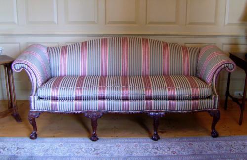 price my item value of baker philadelphia chippendale sofa