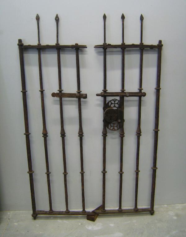 Th century spanish wrought iron gate c